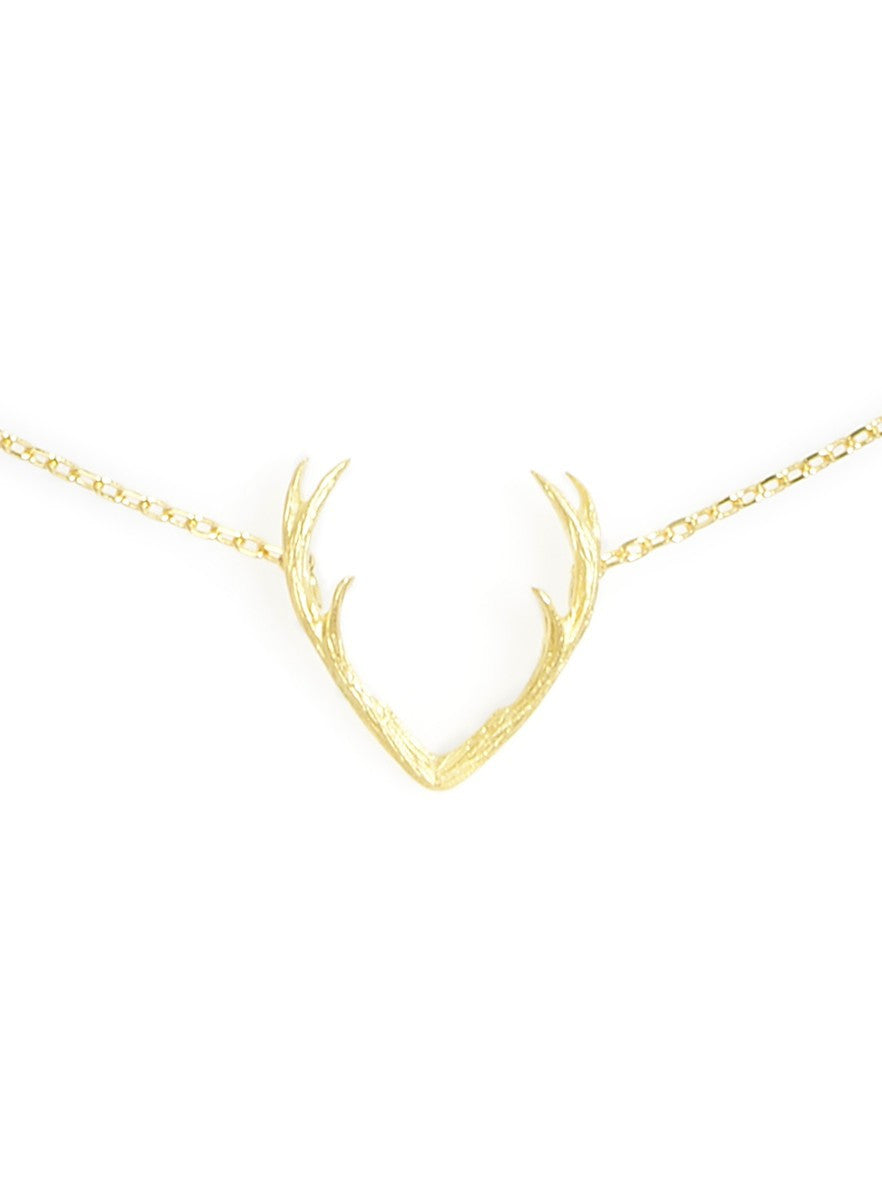 Mrs. Deer Gold Necklace