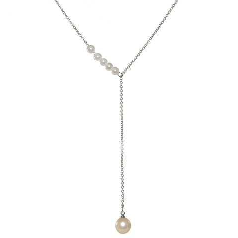 Christabel Silver Pearl Necklace