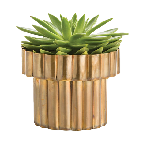 Art Deco Gold Planter