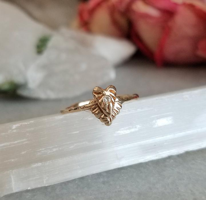 Diamond Divine Heart Ring