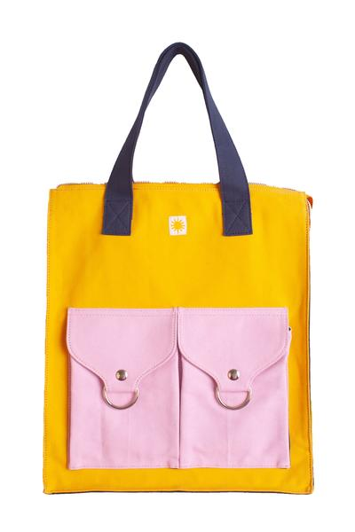 Color Blocked Shopper