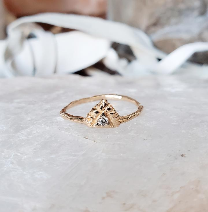 Diamond Pyramid Light Ring