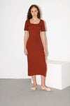 Margarida dress - brick