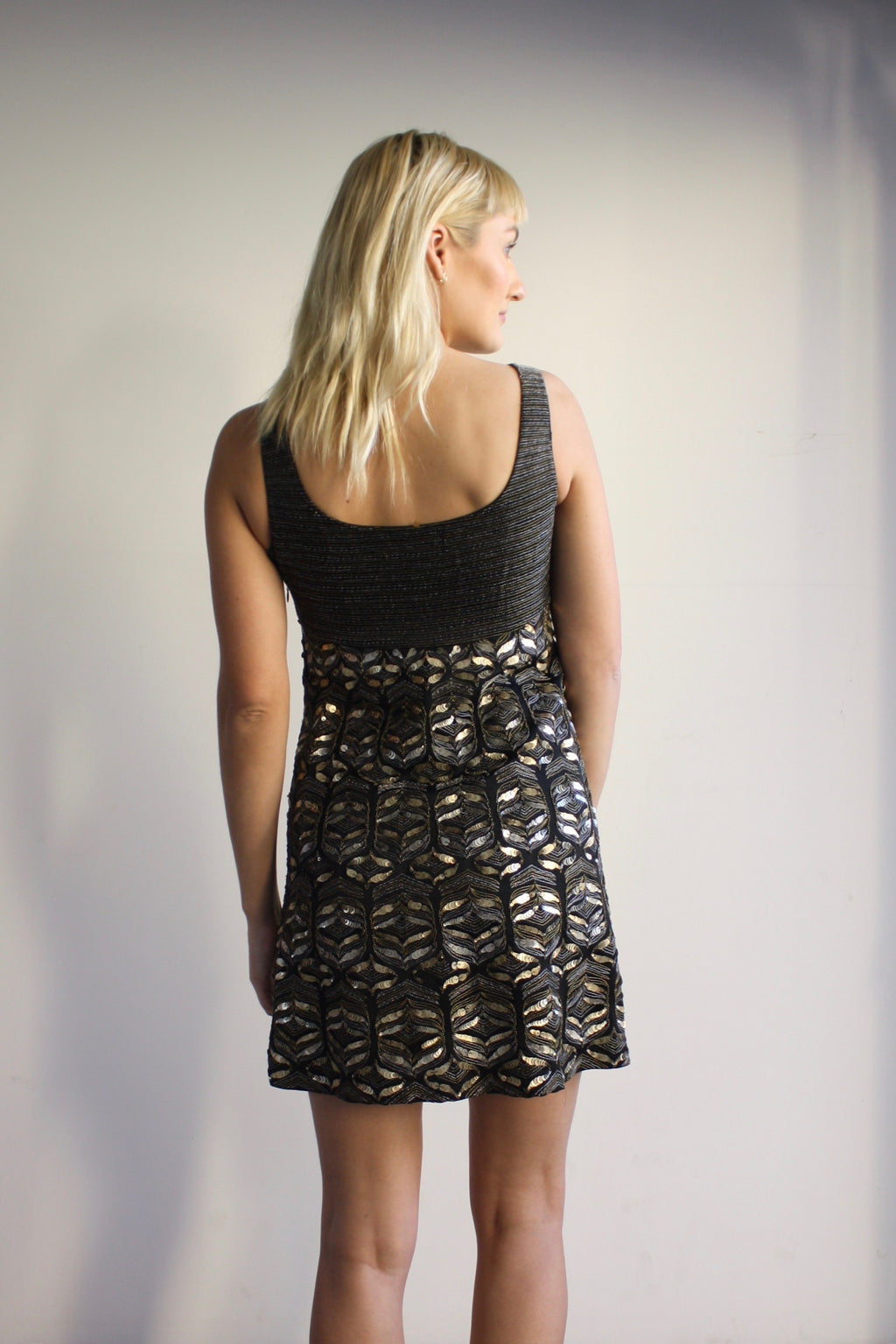 Elie Tahari Beaded Mini Dress