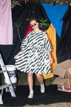 Tent Dress with Balloon Sleeves - Licorice Candy