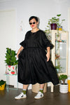 Long Tent Dress - Black Linen - PRE-ORDER