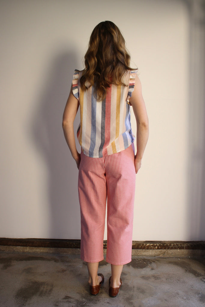 Lou Pants - Strawberry Gingham