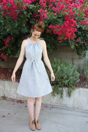 Alva Dress - Denim Stripe