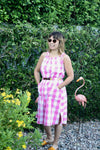 Alva Dress - Raspberry Check