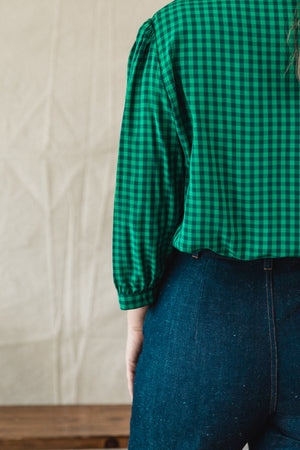 Carly Blouse - Fern Check