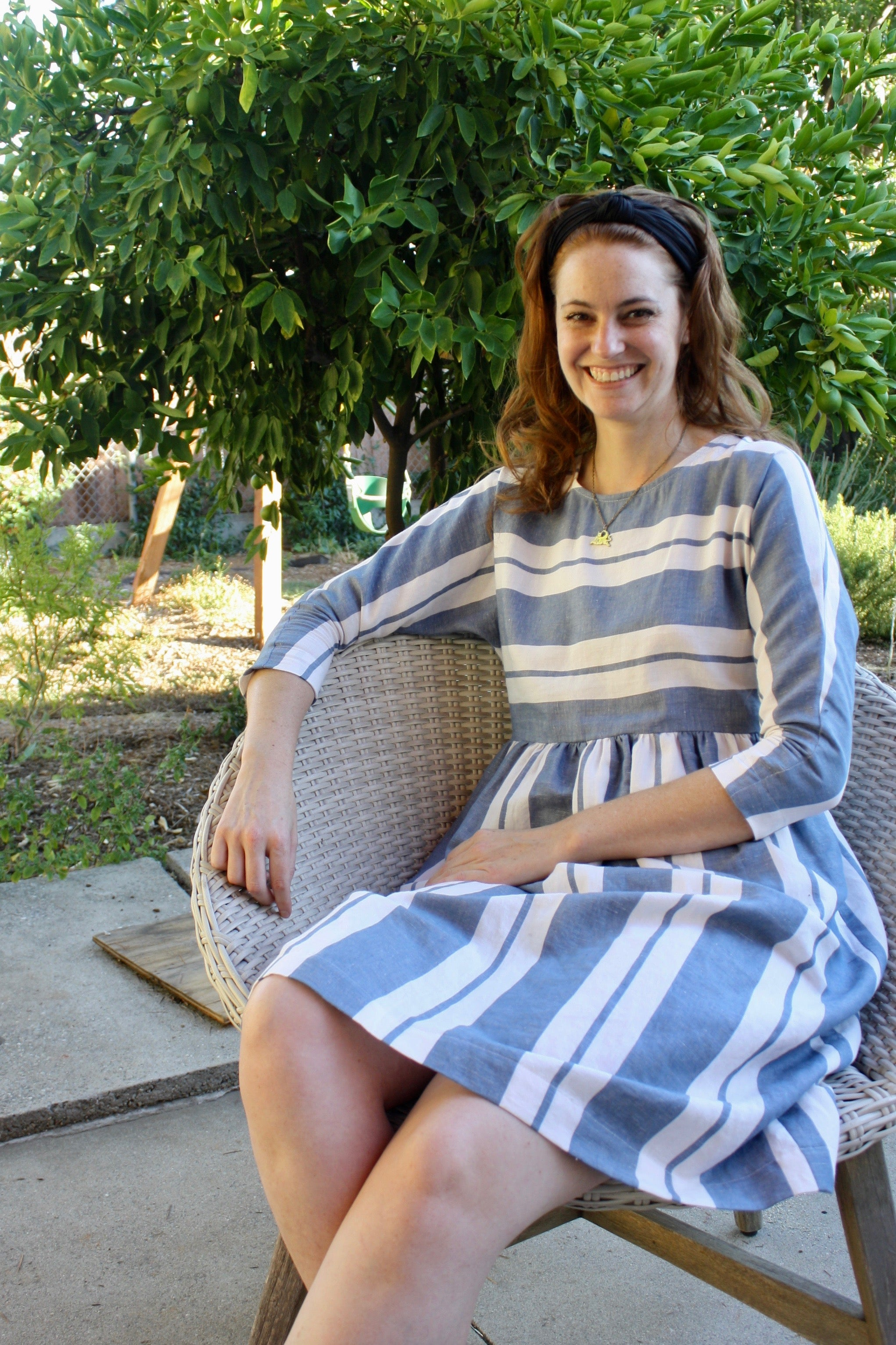 Rae Dress - Harbor Stripe