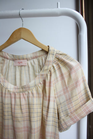 Ann Blouse - Pink Plaid