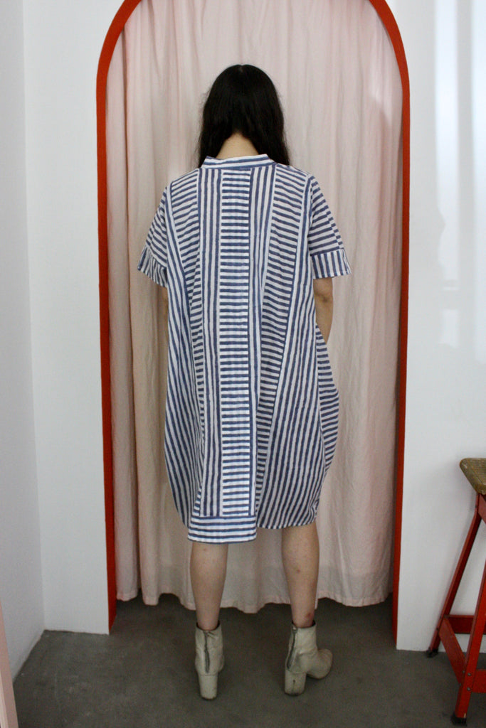 Emerson short caftan - stripe