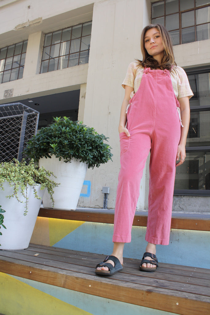 Sloan Overalls - Rose Corduroy