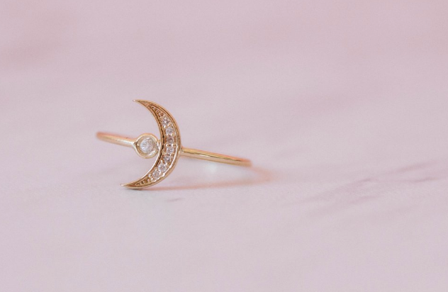 Eclipse Ring - 14k