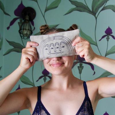 Linen Eye Pillow - Faces