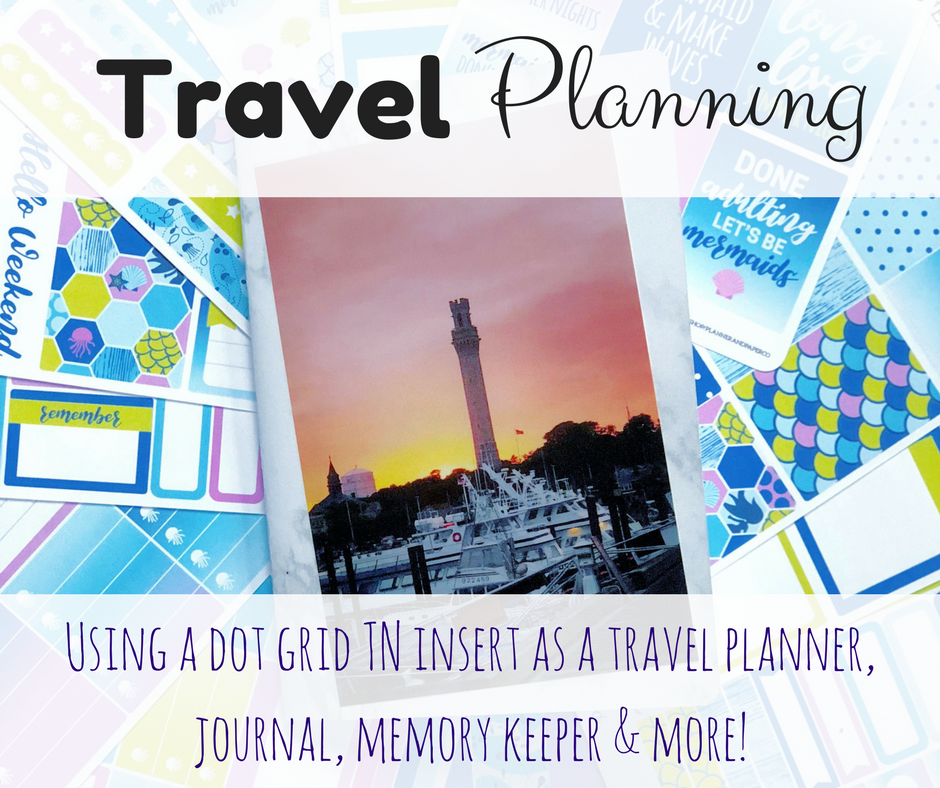 Travel Planning Using a Dot Grid TN Insert