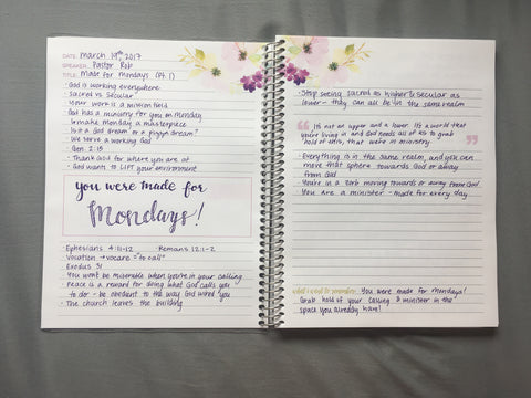 Limelife Planners Sermon Notes Notebook Walk Through