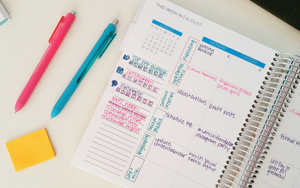 how to organize blogging tasks