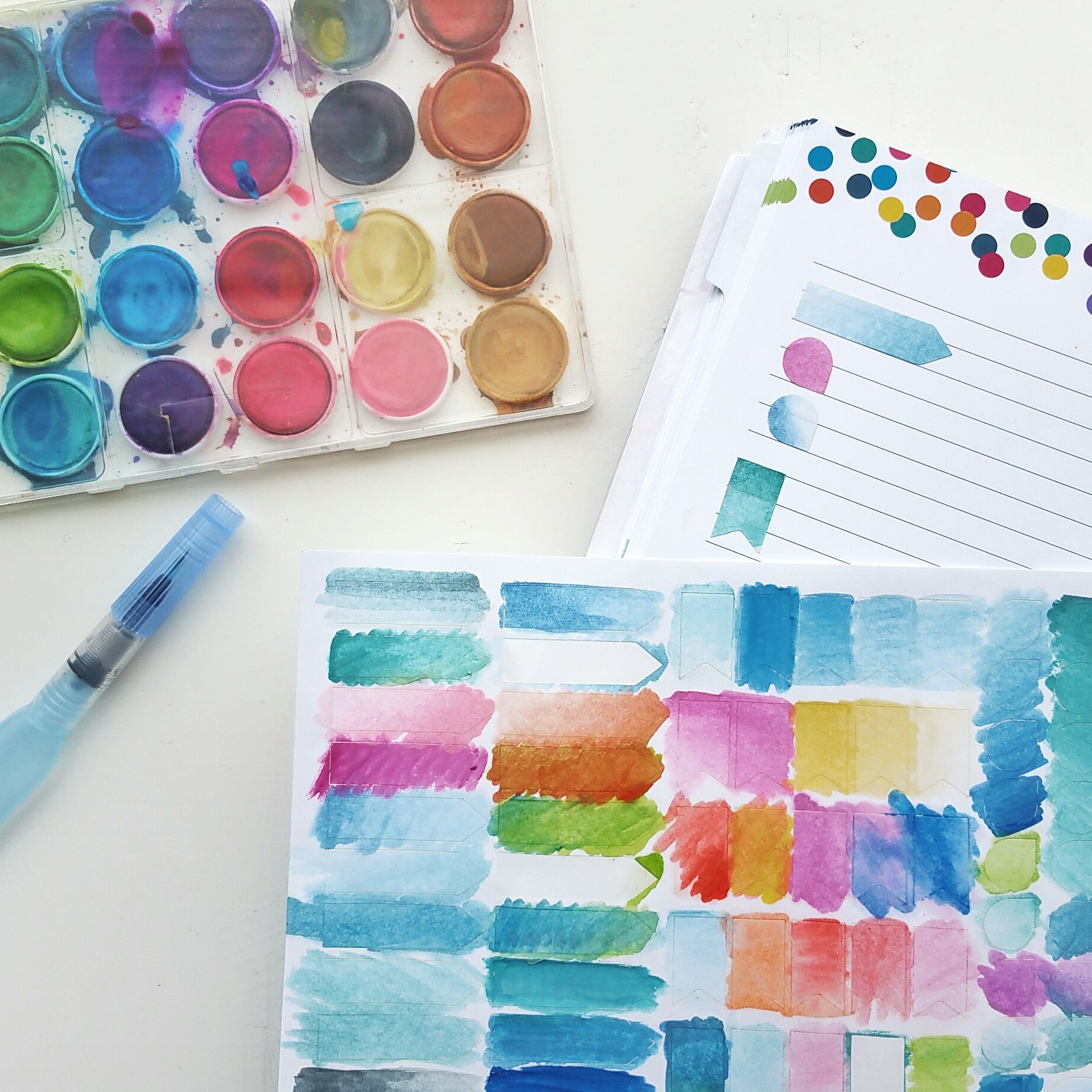 DIY Watercolor Stickers