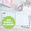 8x8 Monthly & Weekly Planner