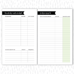 BUDGET PAGES DIGITAL DOWNLOAD