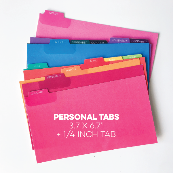 Personal Monthly Tab Set