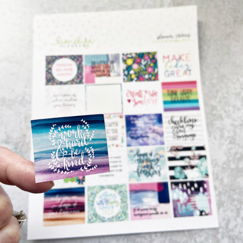 Monthly Inspiring Words Stickers