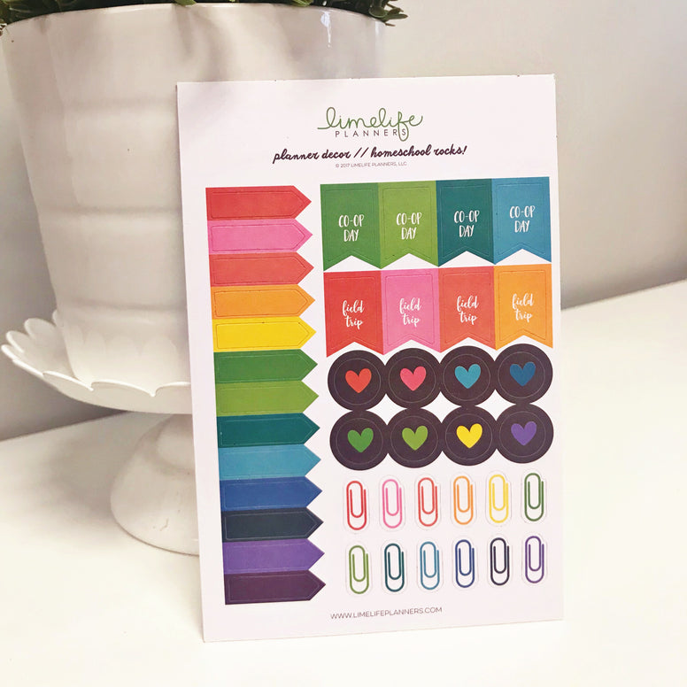 Homeschool Planner Stickers