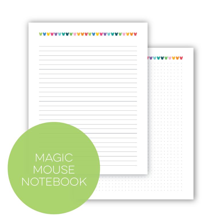 Magic Mouse Notebook (Choose Your Size)