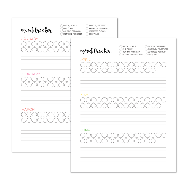 Mood Tracker Planner Add-On