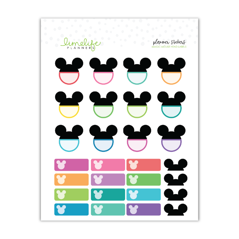Magic Mouse All Ears Stickers