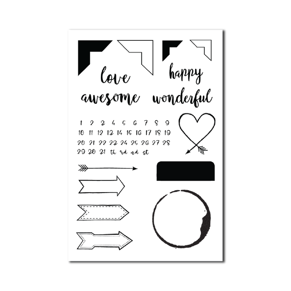 Schoolhouse STAMP SET