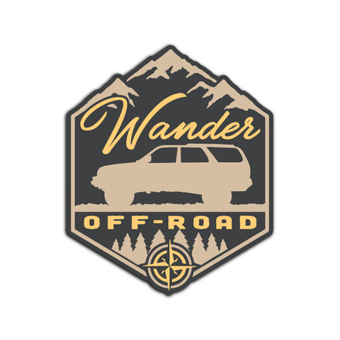 Wander Off-Road - Mountain Stickers