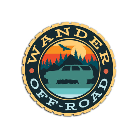 Wander Off-Road - Sunset Stickers