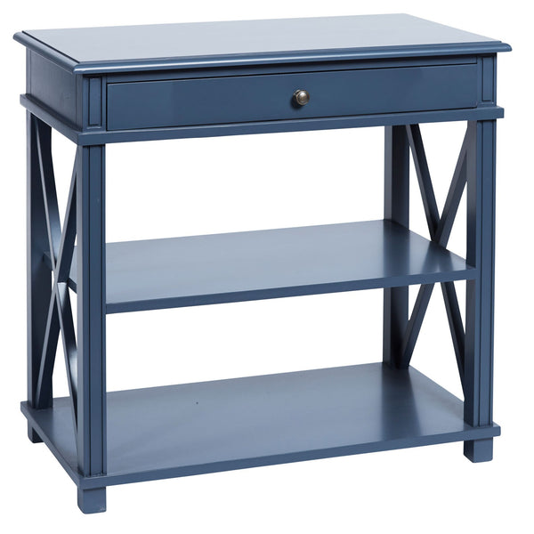 Manto Bedside Table Large Blue
