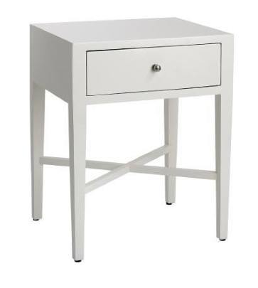 Bedside 1 Drawer - Bright White