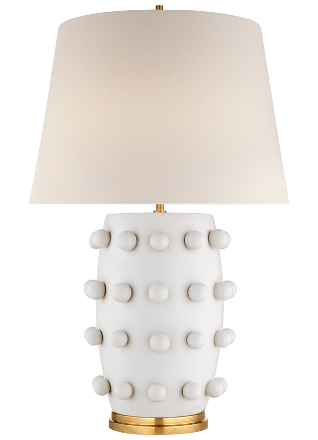 Linden Table Lamp in White