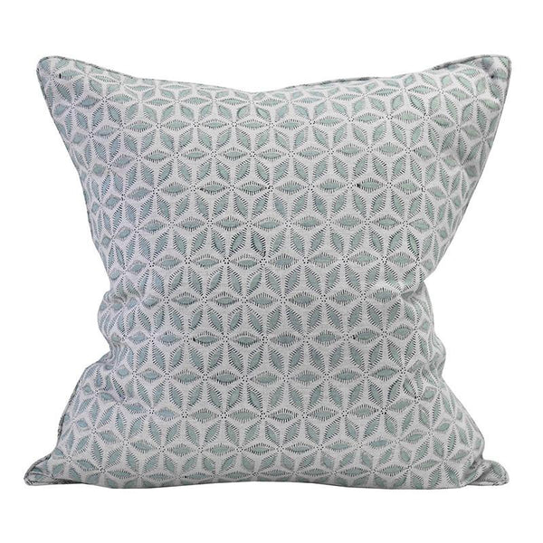 Hanami light blue linen cushion 50x50cm