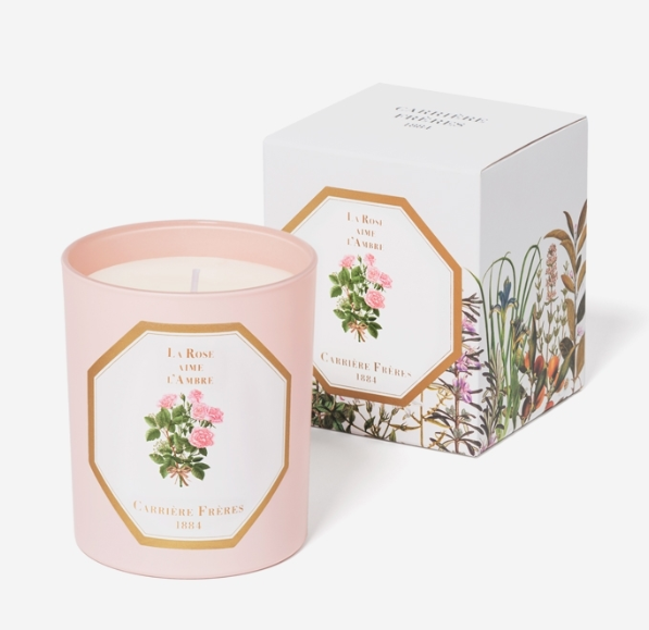 Carriere Freres Rose Amber Candle 185g