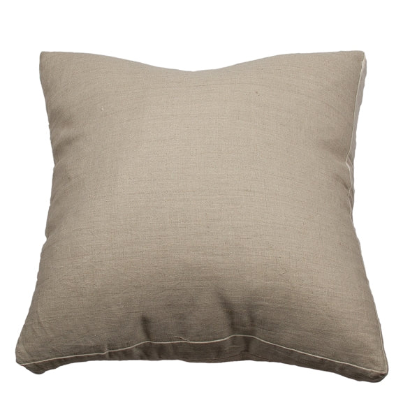 100%Pre Washed Linen Cushion Natural 50 x 50cm