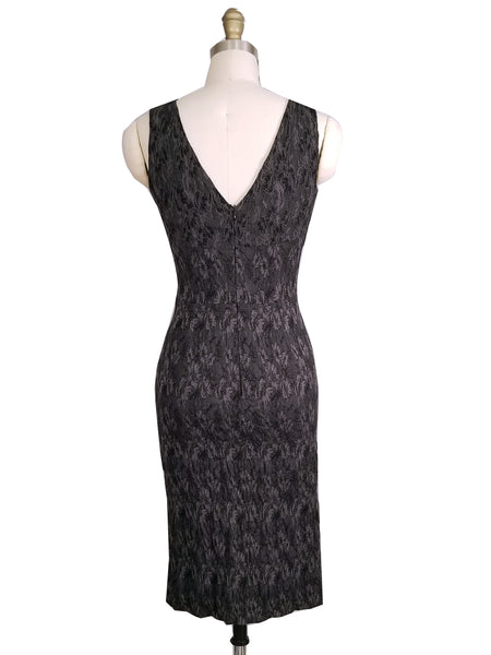 Brocade Fitted Sheath Dress