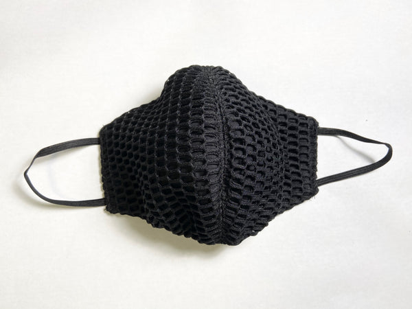Unisex Netting and Cotton Face Mask with Soft War loops