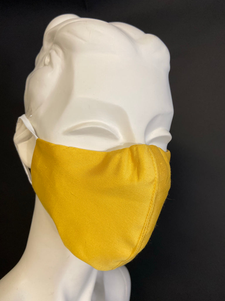 Golden Volcano- Handmade Face Mask with Filter Pocket Insert