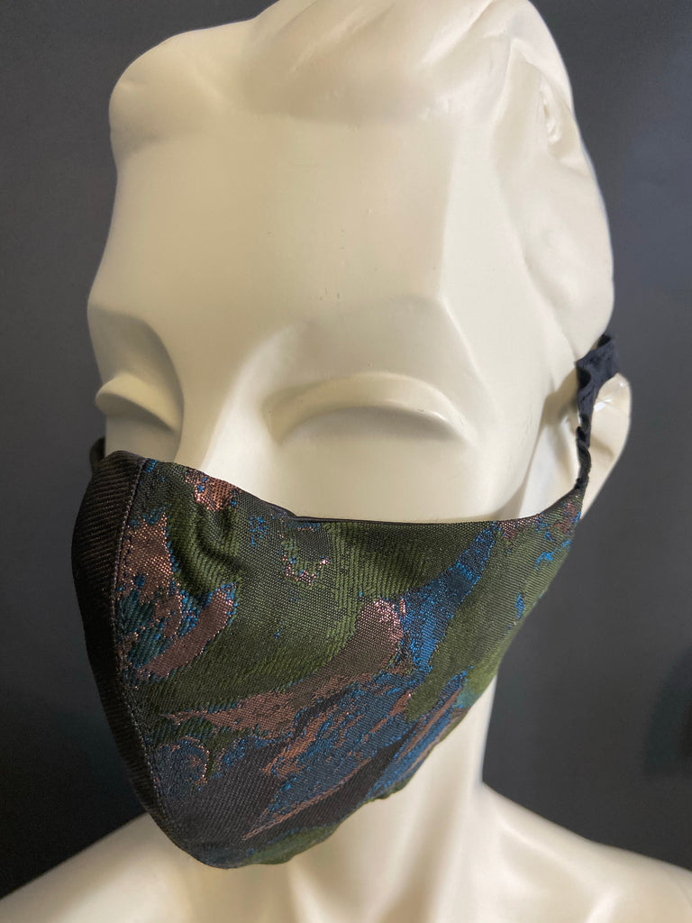 Metallic Forest - Handmade Face Mask with Filter Pocket Insert