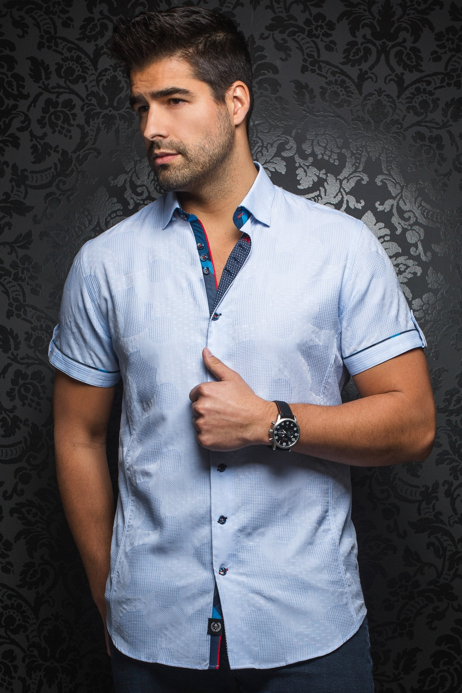 Short-Sleeve Shirt | Tomassi Jaqc Light Blue