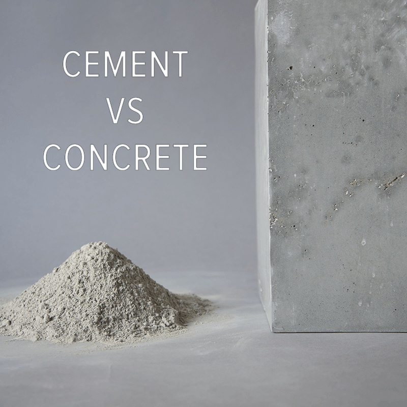 Cement vs. Concrete