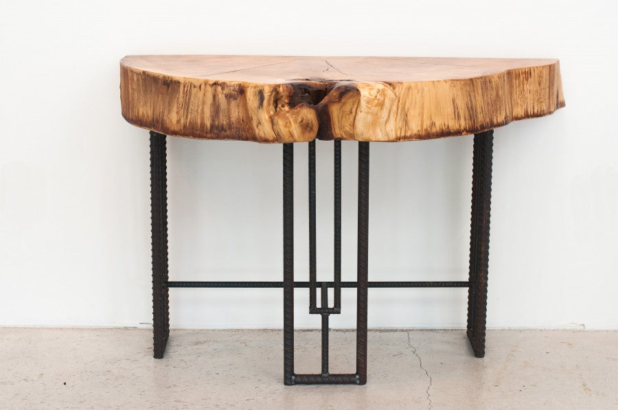 console table-rebar legs