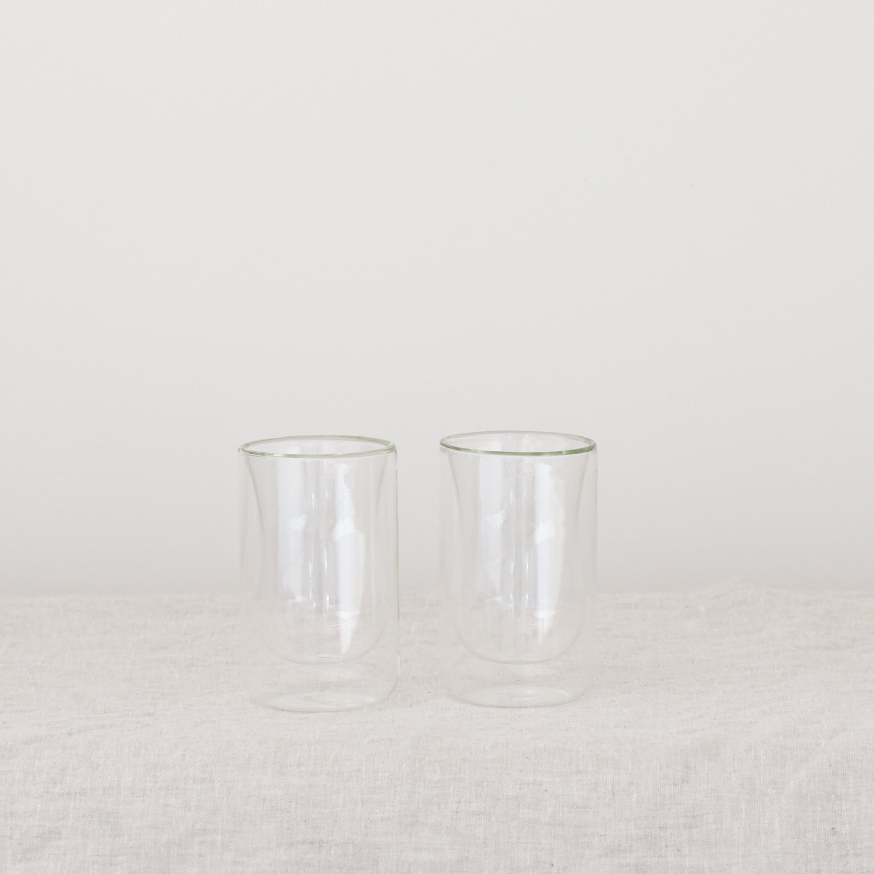 ISTANBUL Drinking Glasses | Set of 2 Double Walled Glass Cups