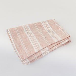 MULTISTRIPE European Linen Kitchen Towel 46x65 Rosa